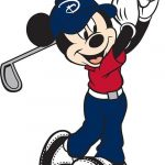 Mickey mouse golfista